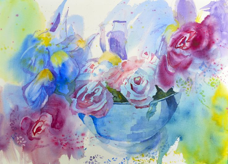 "I used this as an example of an abstract underpainting in my Craftsy class, ""Simple & Stunning Watercolor Techniques,"" which you can get at half price at www.craftsy.com/ext/MaryMurphy_Giveaway"