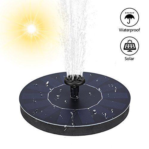 Mohoo Fontaine Solaire Pompe à Eau Solaire Panneau Solaire Kit Pompe