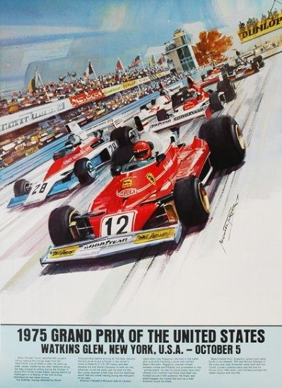 Affiche Grand Prix F1 USA Watkins Glen 1975