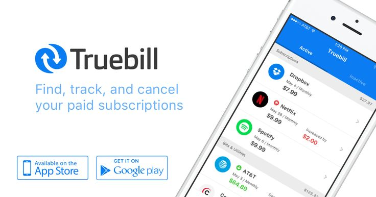 Truebill is the easiest way to find subscriptions manage