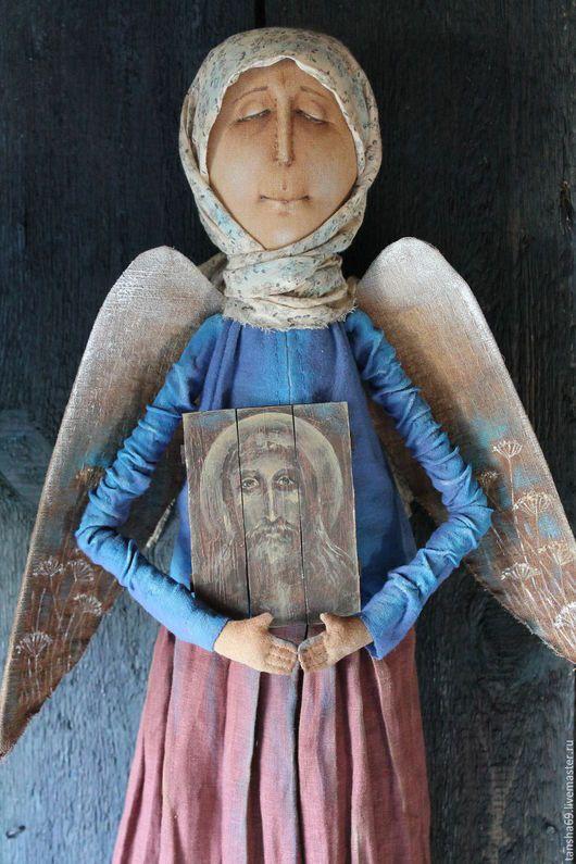 Коллекционные куклы ручной работы. На тебя уповаю.... Татьяна Козырева (tansha69). Интернет-магазин Ярмарка Мастеров. Текстильная кукла