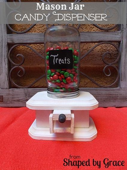 Mason Jar Candy Dispenser