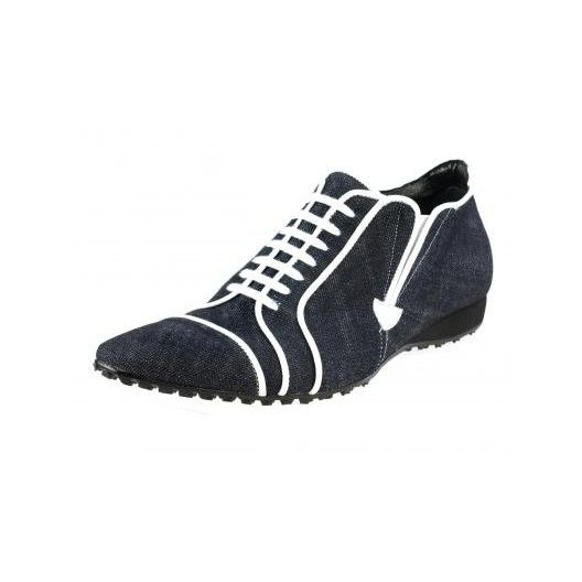 Pánske kožené športové topánky tmavomodré PT137 - manozo.hu