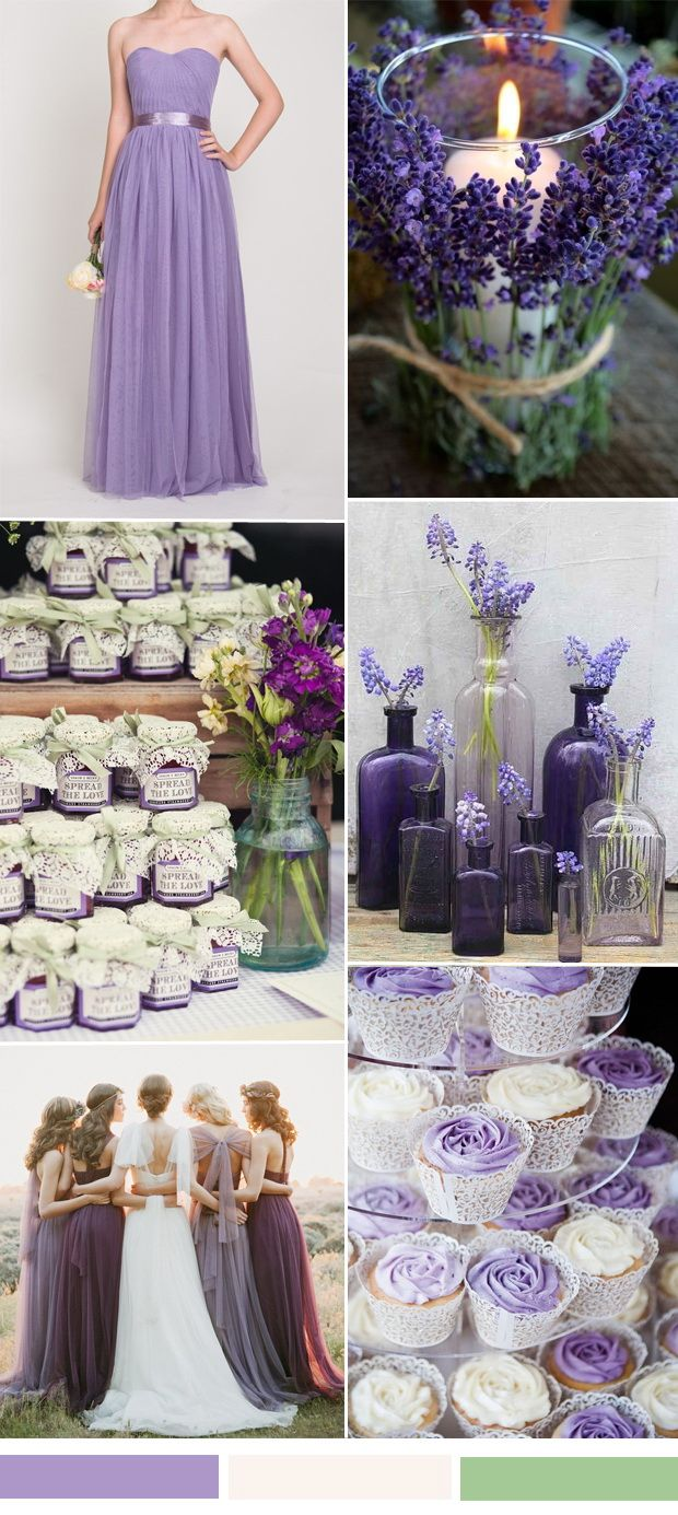 purple and ivory wedding color combo ideas and purple bridesmaid dresses ideas for fall wedding 2015