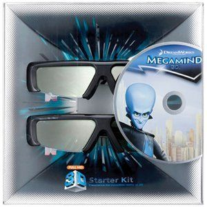Samsung SSG-P3100M Megamind 3D Starter Kit - Black (Compatible with 2011 3D TVs) by Samsung. $69.99. Includes: Shrek, Shrek 2, Shrek the Third Blu-ray 3D discs - all have been re-mastered in 3D. Includes: 2 pairs Samsung 3D Active Glasses Model: SSG-3100GB Includes: Mail-in coupon for Shrek Forever After Blu-ray 3D disc Includes: Mail-in coupon for Megamind Blu-ray 3D disc Gateway to Samsung 3D entertainment. Save 50% Off!