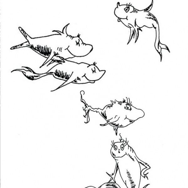 Dr Seuss One Fish Two Fish Coloring Pages Colorful Fishes Free Printable Coloring Pages In 2021 Fish Coloring Page Coloring Pages Dr Seuss Coloring Pages