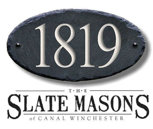 SLATE House Numbers ( Carved Stone ) Marker / Home Address Sign plaque Custom Modern outdoor #MA-1SB by TheSlateMasons on Etsy https://www.etsy.com/listing/114392374/slate-house-numbers-carved-stone-marker