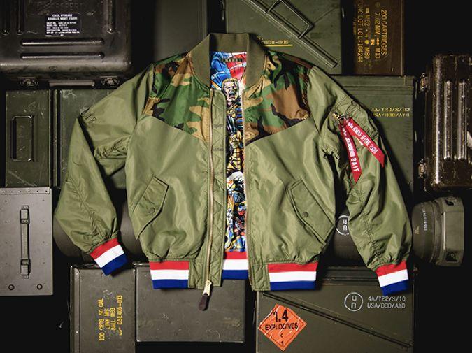 Alpha Industries L-2B flying jacket featuring Hasbro's G.I. Joe for BAIT