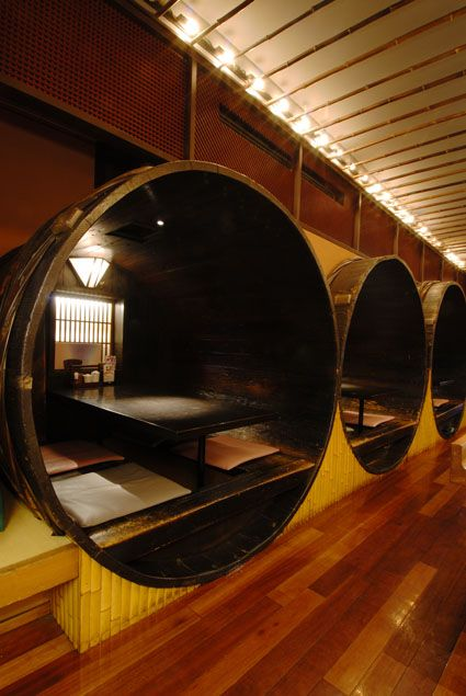 Weird but in a good way. Reminds me of this very wood-oriented restaurant in Boone, NC. // 天神 芙蓉 (Tenzin Fuyo) Fukuoka, Japan