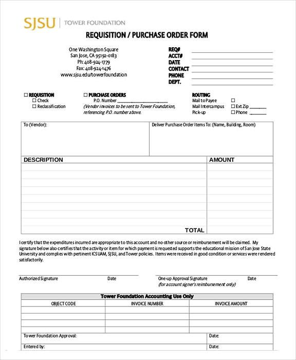 20 Purchase Order Templates Purchase Order Template Purchase