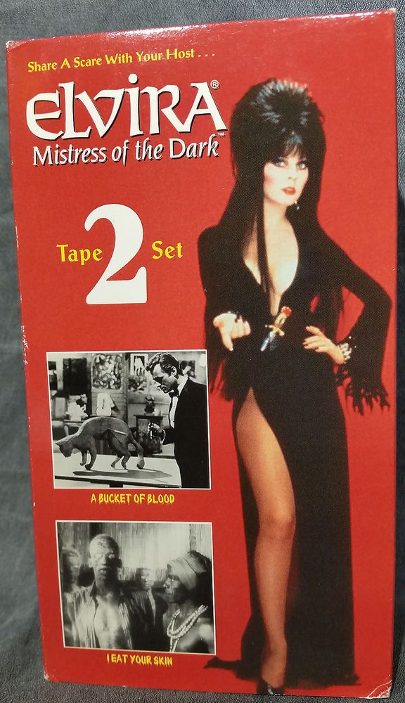 Elvira Mistress Of The Dark Two VHS Movies Box Set - A Very Funny Movie!!