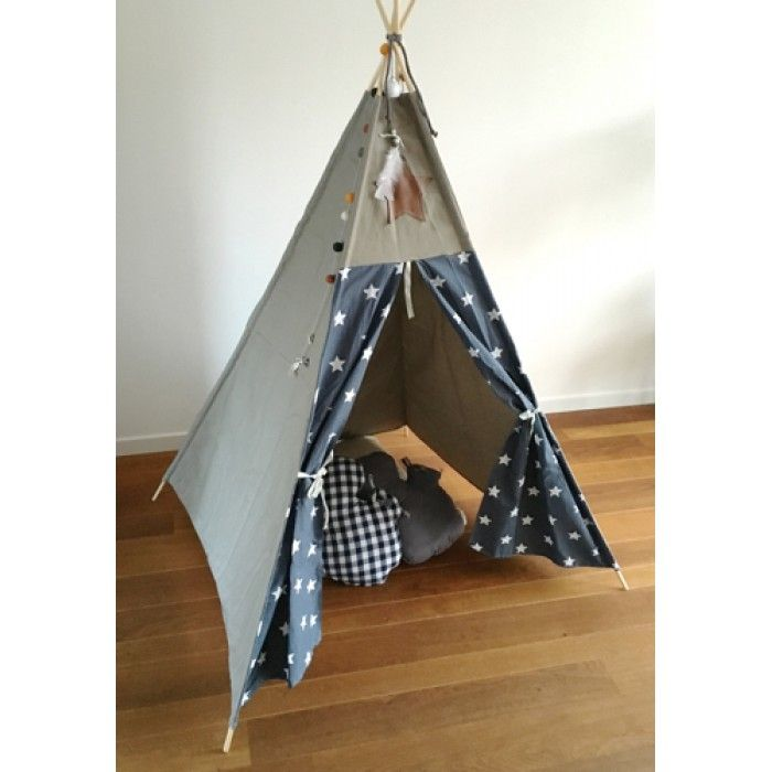 Tipi tent wigwam ster grijs canvas taupe zand | TIPI WIGWAM TEE PEE TEEPEE SPEELTENT | Pinterest | Tipi  sc 1 st  Pinterest & Tipi tent wigwam ster grijs canvas taupe zand | TIPI WIGWAM TEE ...