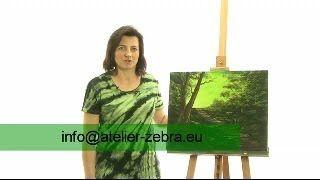 painting on wet canvas / olejomalba na mokré plátno, olejomalba technikou Boba Rosse, Jana Laštovičková Grygarová, www.atelier-zebra.eu