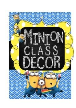 Who is not in love with those little yellow guys? The Minions are everywhere you look, even your classroom! Minion Classroom Dcor Includes:Classroom Rule/Expectations SignsHall PassesName PlatesCalendar (months, numbers, holidays)Behavior LogPlease let me know if you have any questions!