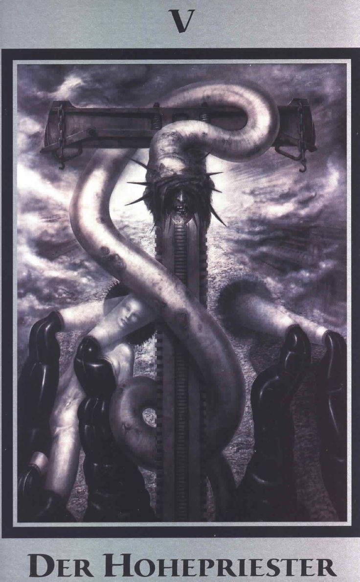 H.R. Giger - Baphomet Tarot - V   Illustration. Artiste et Le culte