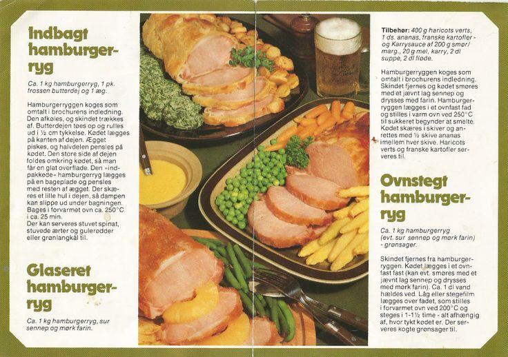 1 indbagt hamburgerryg  2 Glaseret hamburgerryg  3 Ovnstegt hamburgerryg