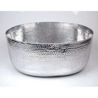 Aluminum Beverage Tub  28003 Features: -Material: Aluminum. -Shiny, hammered steel. -Oval shape. -Color: Silver. Product Type: -Beverage Tub. Handle: -Yes. Dimensions: Overall Height – Top to Bottom: -8.5″. Overall Width – Side to Side: -19.25″. Overall Depth – Front to Back: -14.19″. Overall Product Weight: -5 lbs. Beverage Tub Beverage Tub Size:-18.25″ x 14″ x 8.50″ Beverage Tub Beverage Tub Size:-18.25″ x 14″ x 8.50″ Shiny Hammered Beverage Tub Beverage Tub Size:-18.25″ x 14″ x 8...