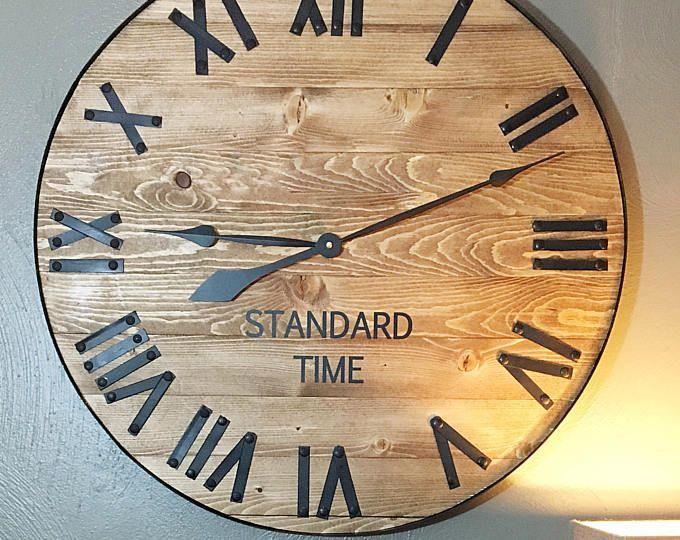 Best 25+ Rustic Wall Clocks Ideas Only On Pinterest