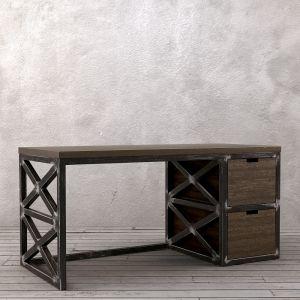 Рабочий стол Бристоль, Металлический каркас из трубы 40х40мм. Ящики, столешница - сосна.