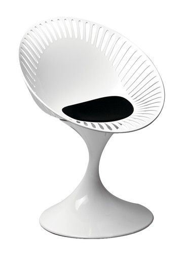 Lily Side Chair - White/Black by Mid Century Classics From Control Brand on @HauteLook