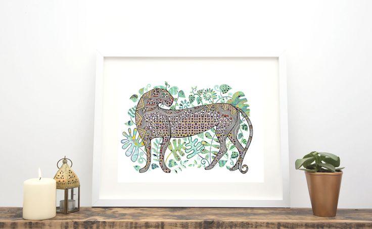 Animal Prints  Leopard in jungle by Hannah Davies http://www.hannah-designs.com