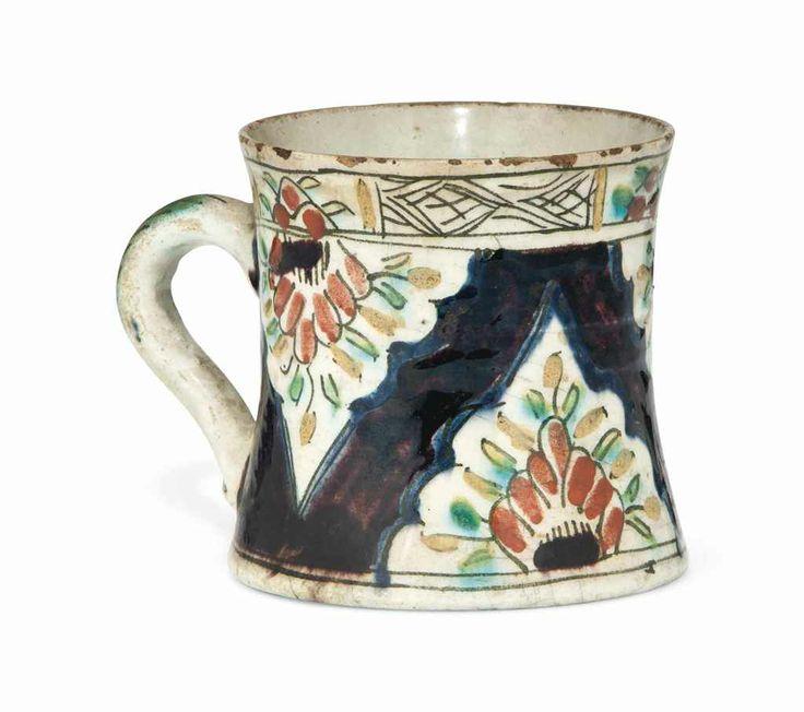 A Kutahya pottery tankard Ottoman Turkey, second half 18th century