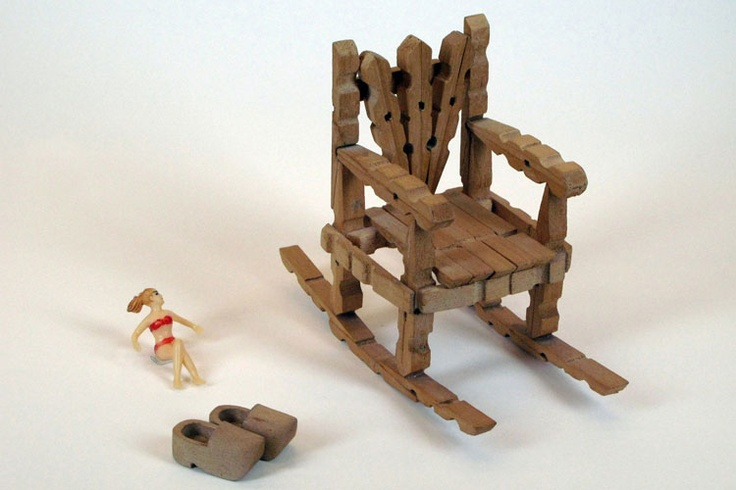 CLOTHESPIN ROCKING CHAIR