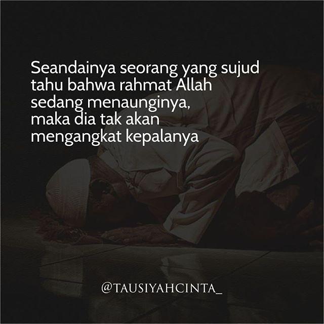 Seandainya seorang yang sujud tahu bahwa rahmat Allah sedang menaunginya maka dia tak akan mengangkat kepalanya http://ift.tt/2f12zSN