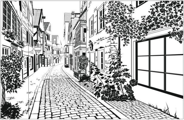 Пескоструйный рисунок Город №169