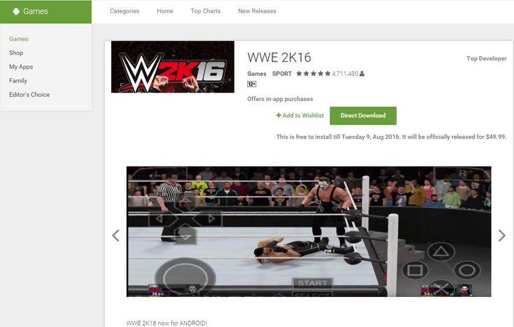 WW 2K16 PC Download and WWE 2k16 for android. Why? Because this year WWE 2K16 is not officially on PC - so we emulated it and give it to you!
