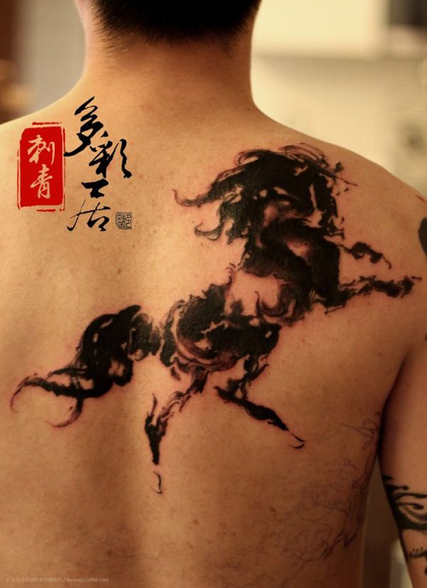 66 best chinese ink horse paintings images on pinterest for Horse jumping tattoos