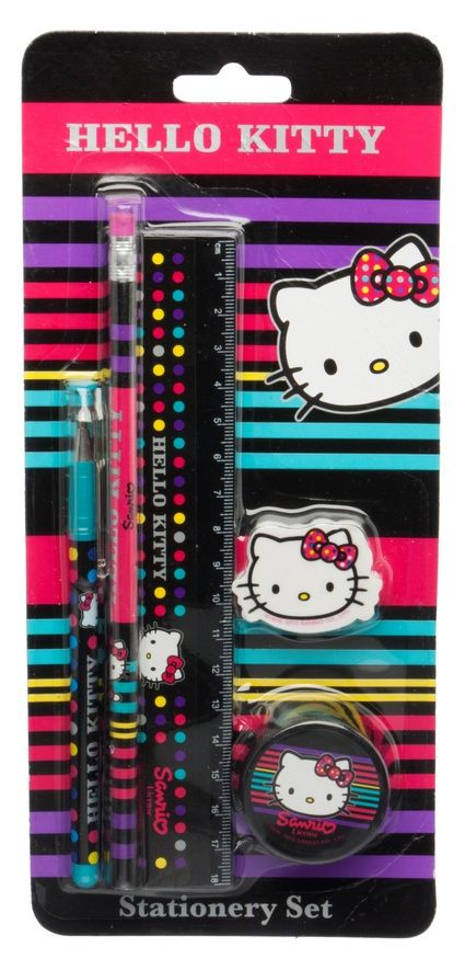 Sharing Hello Kitty Dotty 5 Piece Stationery Set from WHSMITH