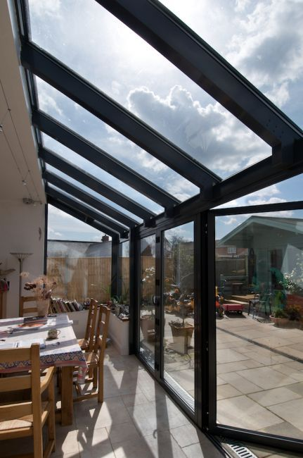 Glazed dining room extension.