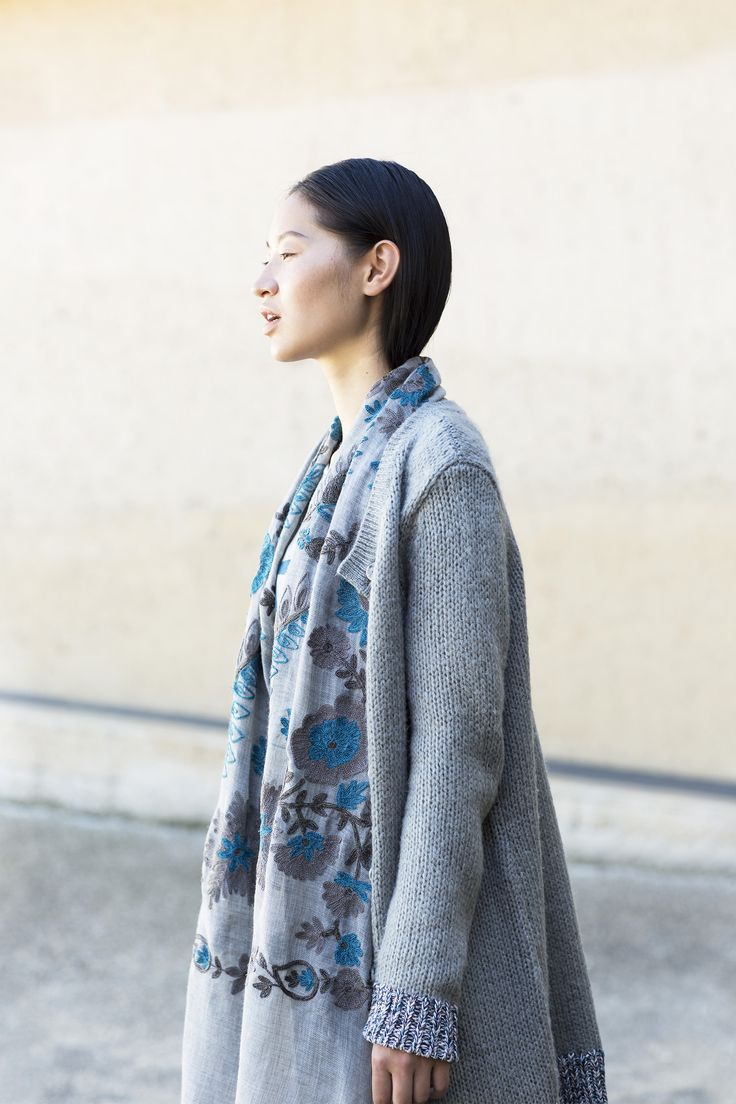 Nordic Light | Fashion | Embroidery | Scarf | Photography