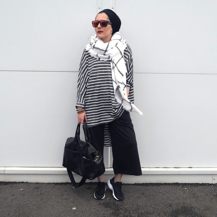 Dina Torkia slaying it in the modesty and comfy department! #Hijab #Muslimah #Modest #hijabstyle