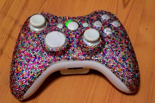 Bedazzled controller. To make sure no one else plays with it. #nerdy