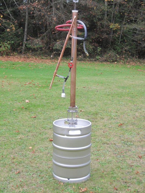 Copper Moonshine Still - Beer Keg Still