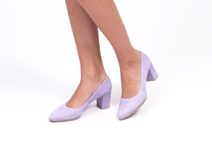 miMaO Urban S Lila  – Zapato mujer salon de tacon rosa vestir cómodo -  women high heels shoes sand pink purple make up color comfort pumps