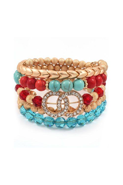 Eternity Bracelet in Turquoise Blend
