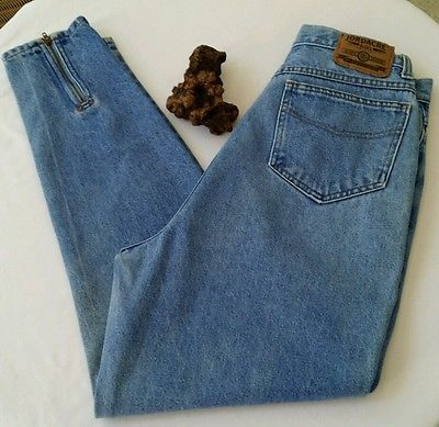 VTG 80's JORDACHE High Waist Zip Ankles Jeans Size: 7/8