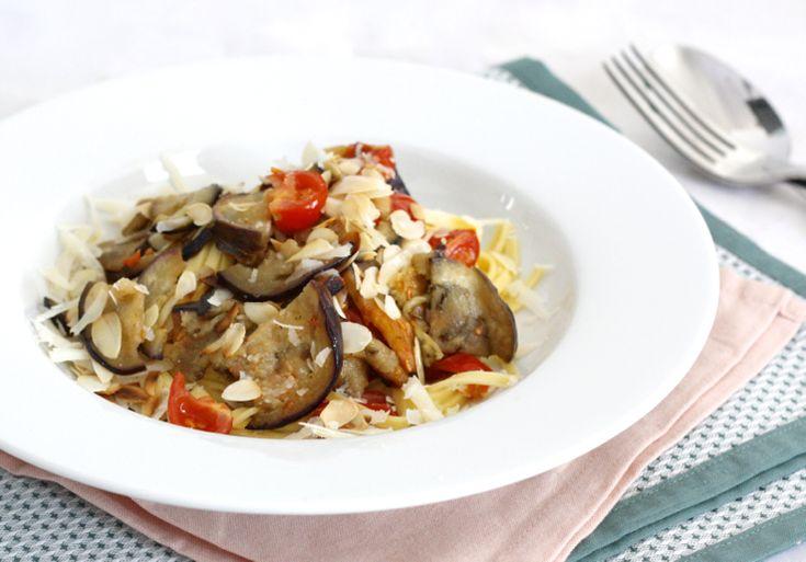 5 or less: Supersnelle pasta met aubergine