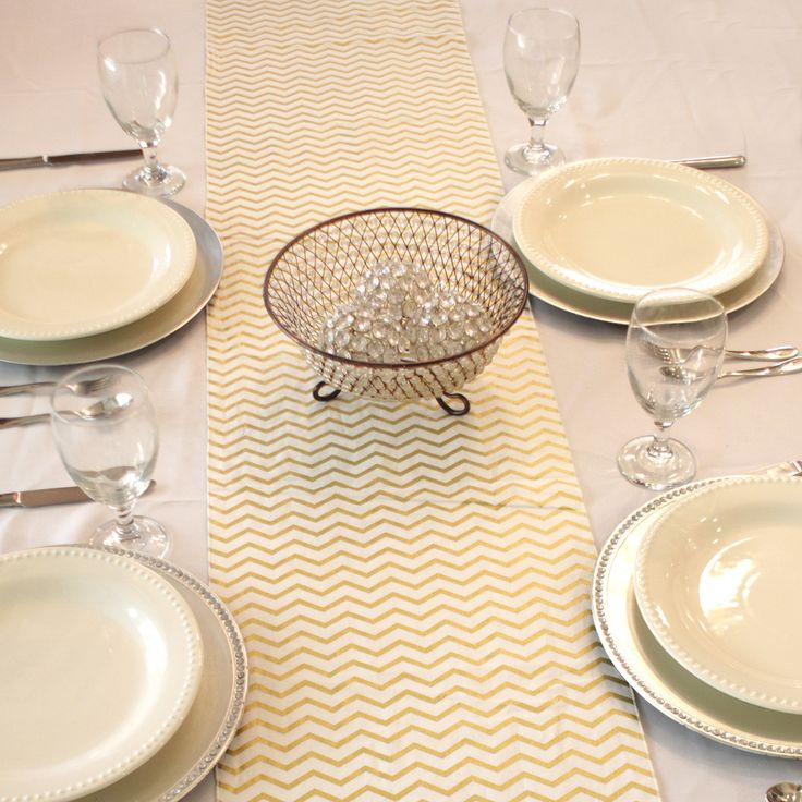 gold chevron table runner table runners pinterest products runners and gold chevron. Black Bedroom Furniture Sets. Home Design Ideas