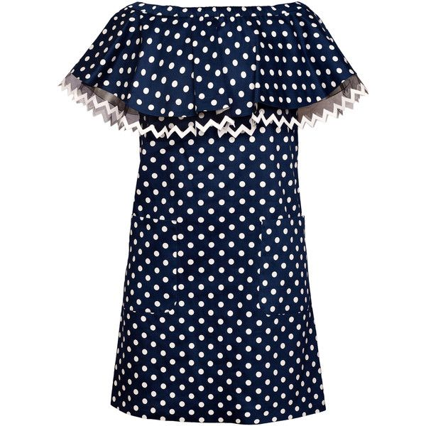 Yanina Demi Couture Off The Shoulder Mini Dress (10.217.420 IDR) ❤ liked on Polyvore featuring dresses, navy, off the shoulder dress, blue mini dress, off-shoulder dresses, navy short dress and blue off the shoulder dress