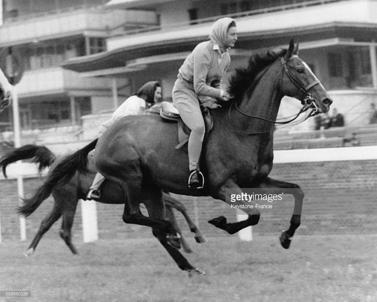Princess Alexandra of Kent on a horse head in the Grand Prize Ascot June 16, 1961 in Ascot, United Kingdom.