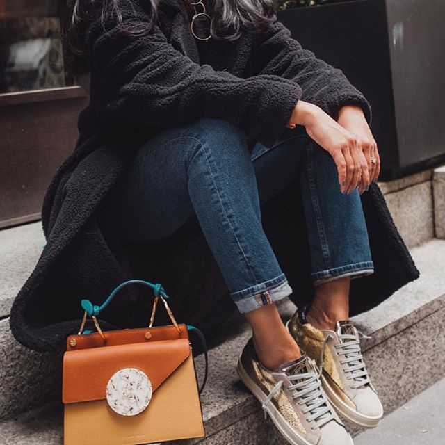 These @p448 metallic sneakers stole my