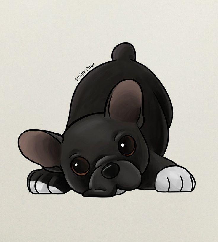 French Bulldog puppy drawing by SculptedPups.deviantart.com on @DeviantArt