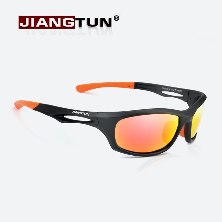 JIANGTUN Flexible TR90 Sport Sunglasses Men Polarized