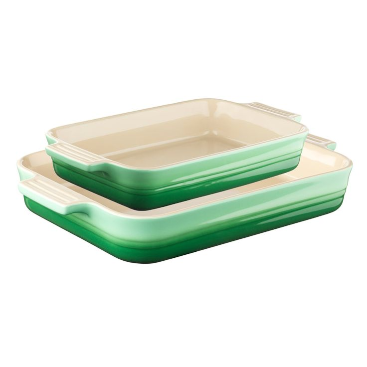 Dish Set Stoneware w/ rectangular Dishes, Rosemary - Le Creuset - Le Creuset - RoyalDesign.co.uk