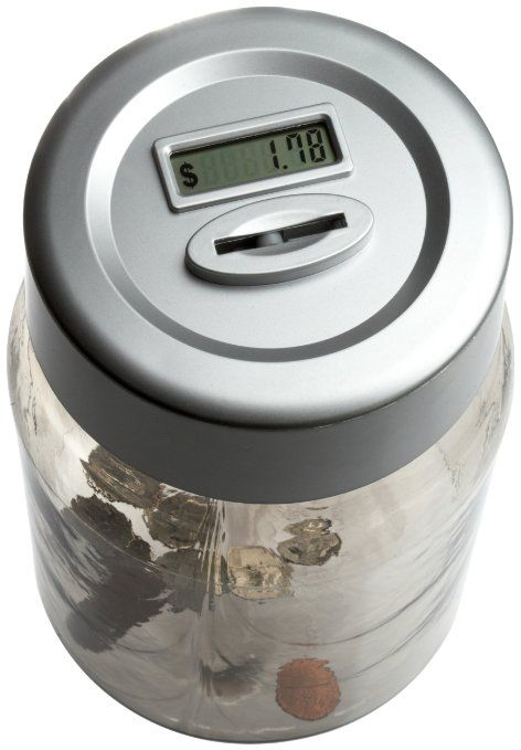 Perfect solutions digital coin counting money jar cool for Cool money jars