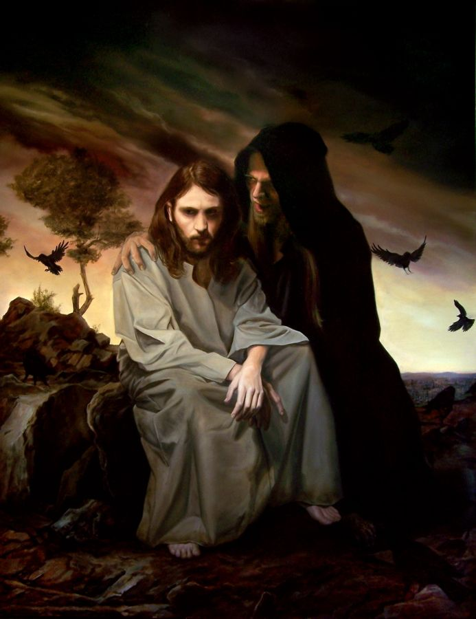 "#art #jesus This is another outstanding artist and friend Eric Armusik. I love this painting ""Temptation of Christ"""